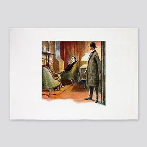 Skerock Holmes illustrations 5'x7'Area Rug